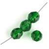 Fire Polished 8mm Transparent Green